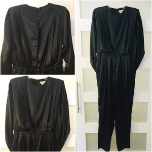 Vtg 80's Black Jumpsuit